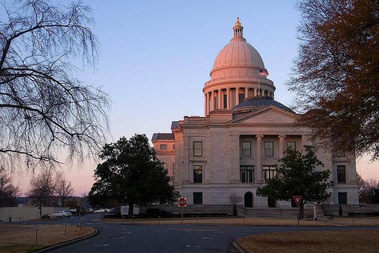 Arkansas State Capitol Building, Little Rock, Arkansas.