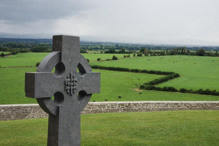 Irish High Cross at the Rock of Cashel in Co. Tipperary, Ireland.