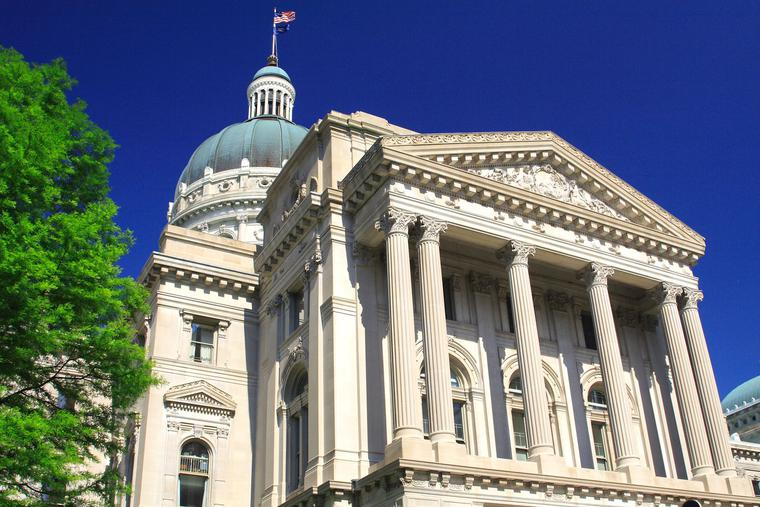 The Indiana Legislature sent the bill to the governor last week.