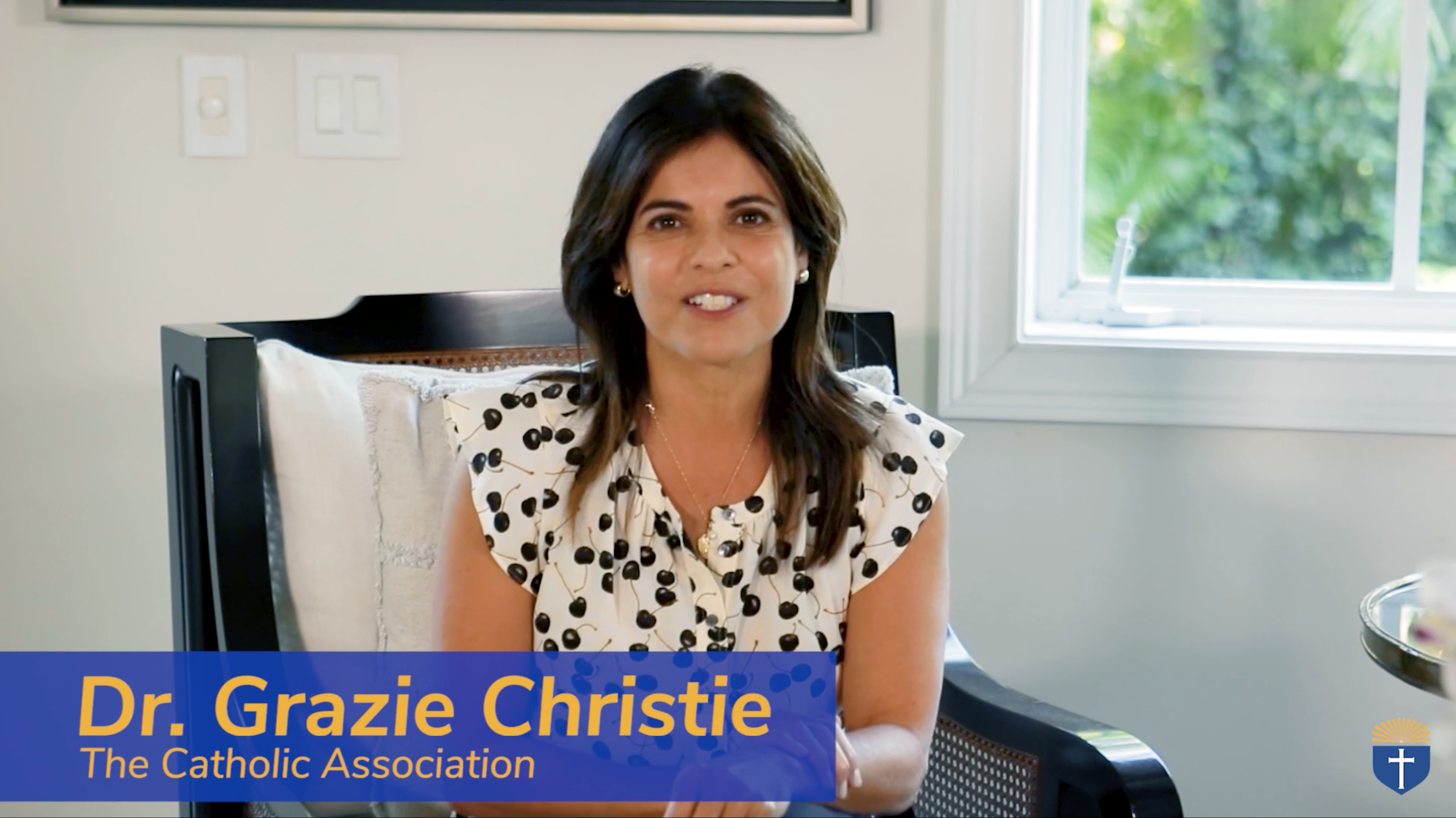 Dr. Grazie Christie of The Catholic Association participates in an online classroom discussion on pro-life issues.
