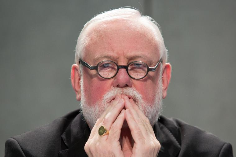 Archbishop Paul Richard Gallagher, Secretary for Relations with States within the Holy See's Secretariat of State, at a press conference on reThinking Europe at the Holy See Press Office on October 27, 2017.