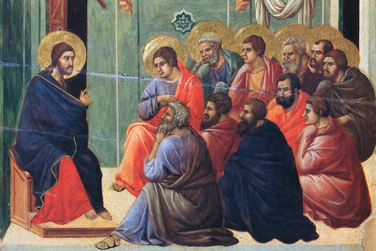 """Duccio, """"Christ Preaches to the Apostles,"""" ca. 1310"""