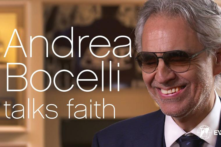 Andrea Bocelli speaks with Colm Flynn for EWTN News In Depth hosted by Montse Alvarado.