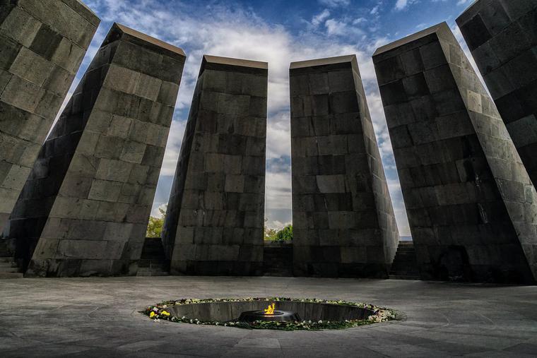 Armenian Genocide Memorial in Yerevan, Armenia.