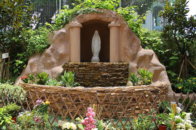 Grotto at Catholic Centre in the Kowloon area of Hong Kong.