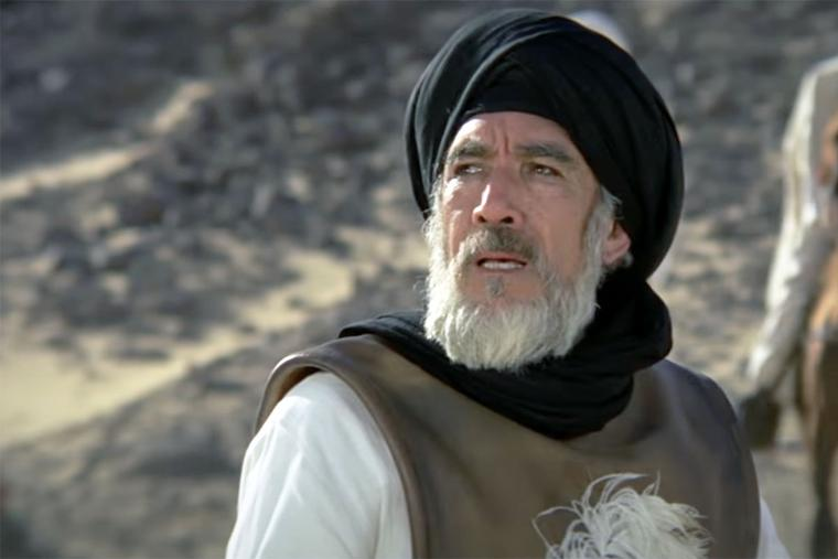Screenshot of Anthony Quinn from 'The Message'