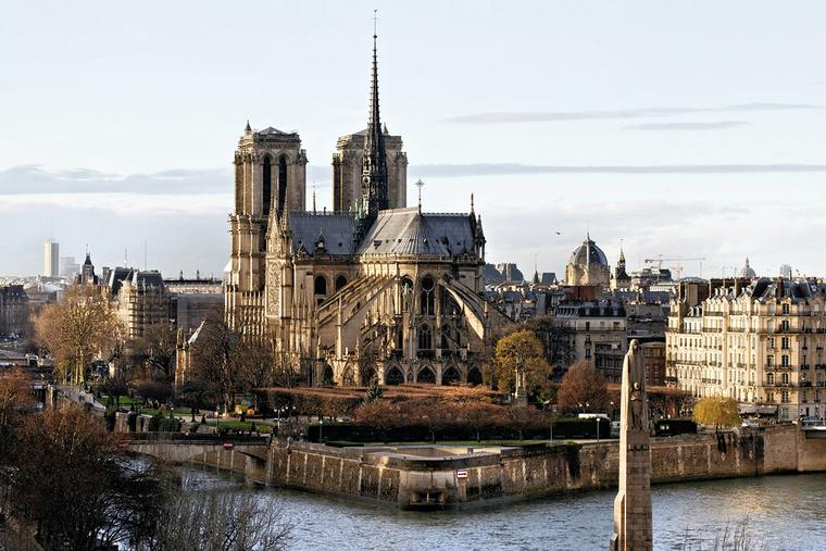 Notre Dame Cathedral before the April 15, 2019, fire