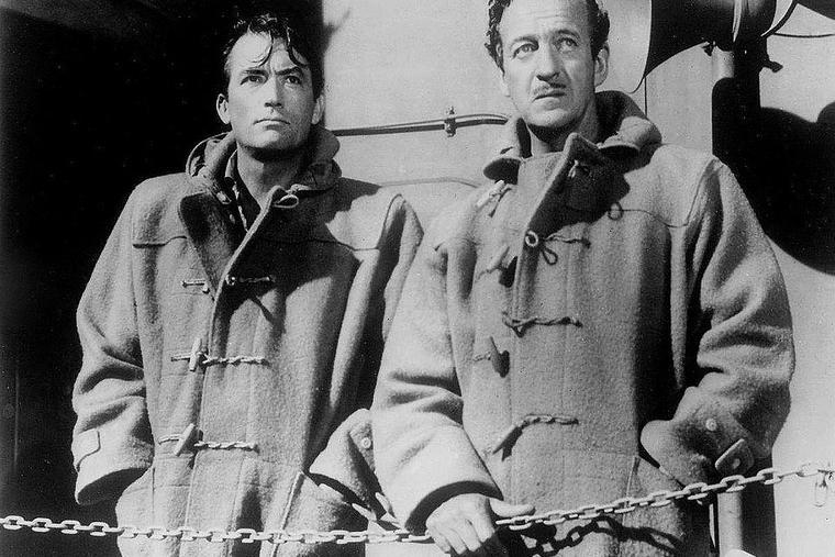 Gregory Peck & David Niven in 'The Guns of Navarone' (1961).