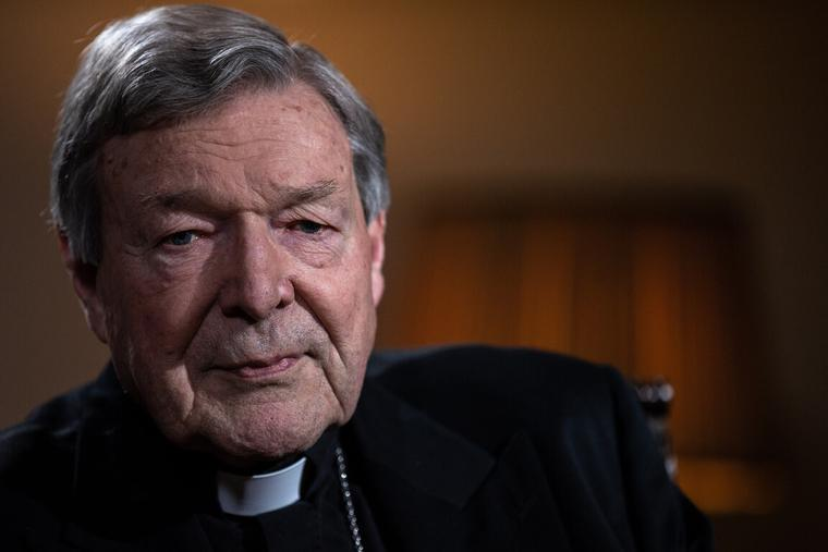 Australian Cardinal George Pell, Prefect Emeritus of the Secretariat for the Economy, speaks during an interview with EWTN in Rome, Dec. 9, 2020.