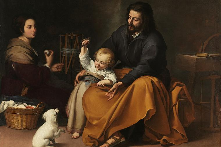 Holy Family with bird (1650).