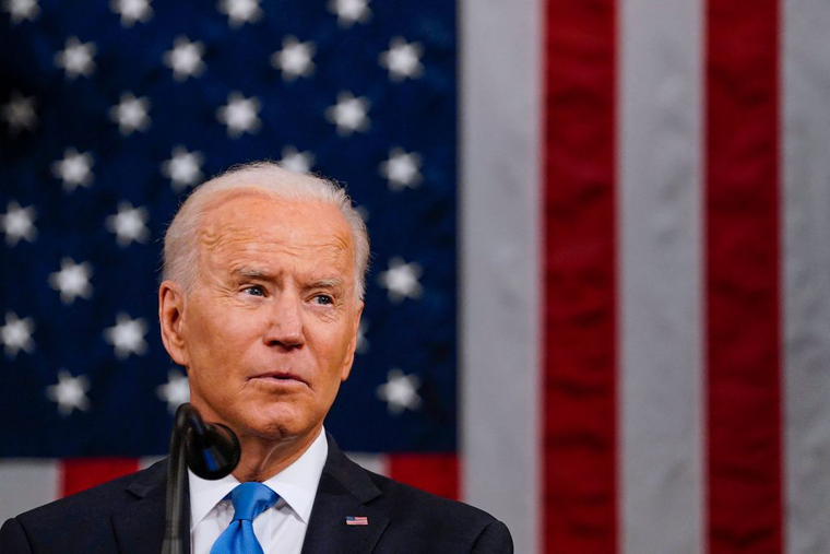 President Joe Biden addresses a joint session of Congress at the US Capitol in Washington, DC, on April 28, 2021.