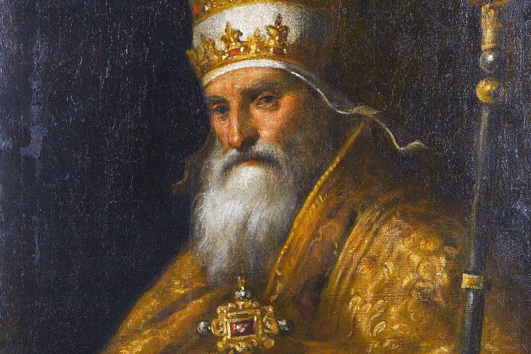 "Palma il Giovane (1550-1628), ""Portrait of Pope Pius V"""