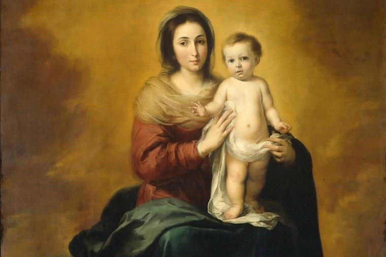 'Madonna in the Clouds' by Bartolome Esteban Murillo,1655 to 1660