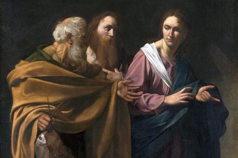 "Caravaggio, ""The Calling of the Disciples,"" ca. 1605"