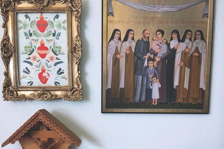 An image of the Martin family hangs in the Spencer home as a reminder of motherhood, loss and love.