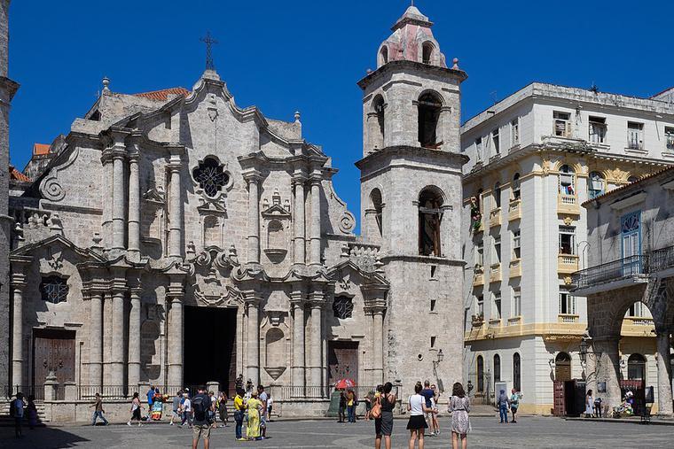 San Cristobal Cathedral in Havana, Cuba