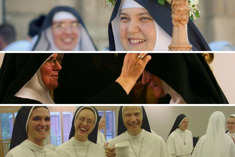 Top to bottom: Mother Cecilia of the Benedictines of Mary, Queen of Apostle, Mother Abbess Maria-Michael Newe of St. Walburga Benedictine Abbey, and Mother Assumpta Long of the Dominican Sisters of Mary, Mother of the Eucharist all support their sisters in their spiritual leadership roles.