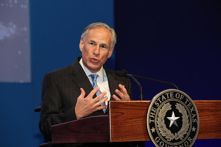 Governor Greg Abbott speaks at the WTTC Global Summit in 2016.