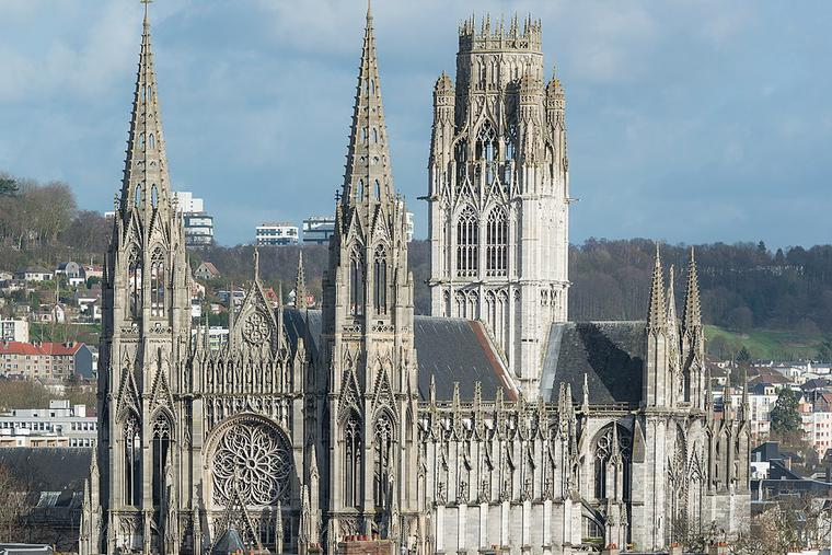 The Church of St. Ouen in Rouen