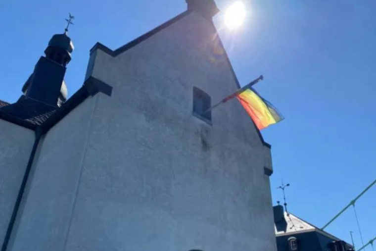 Churches in Germany are flying LGBT pride flags in response to the Vatican's 'no' to same-sex blessings.