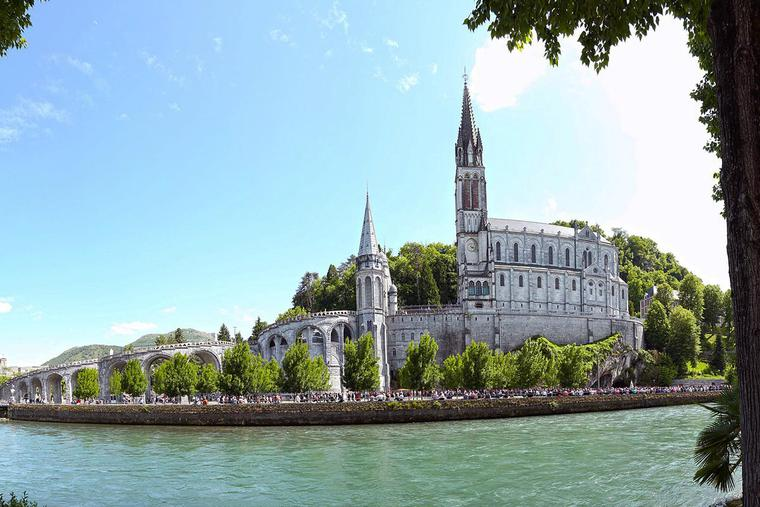 The shrine of Our Lady of Lourdes in Lourdes, France