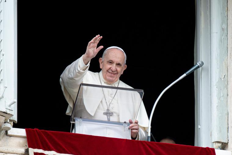 Pope Francis gave his Sunday Regina Caeli address and blessing from the window of the Vatican's apostolic palace to pilgrims in St. Peter's Square on May 2nd, 2021.