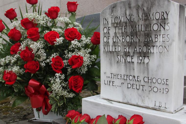 Holy Innocents Prayer Garden in St. Patrick Cemetery in New Orleans, La.