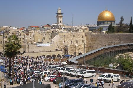 The Western Wall and the Temple Mount in Jerusalem.