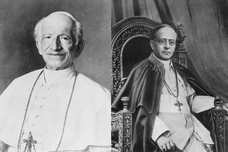 (L-R) Pope Pius XIII and Pope Pius XI.