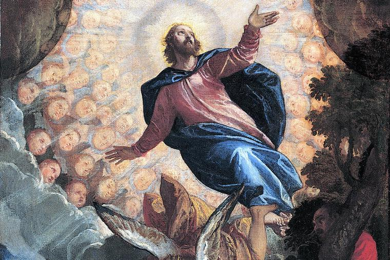 """Veronese, """"The Ascension (detail),"""" 1585"""