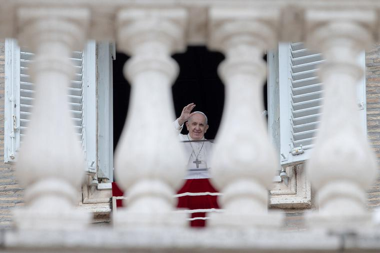 Pope Francis gave his Sunday Regina Coeli address and blessing from the window of the Vatican's apostolic palace to pilgrims in St. Peter's Square on May 2nd, 2021.