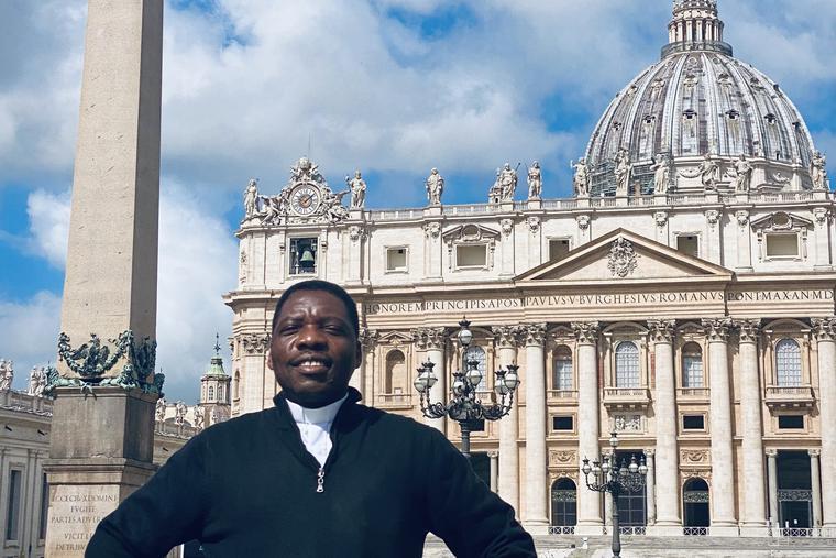 Sudanese priest Charles Mbikoyo.