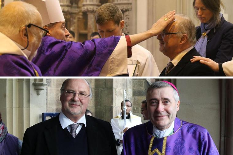 On Dec. 22, 2019, the Fourth Sunday of Advent, at Shrewsbury Cathedral in England, Bishop Mark Davies received Gavin Ashenden into the Catholic Church.
