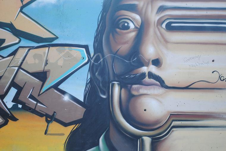 Graffiti of Salvador Dali by CarolinaP from Pixabay
