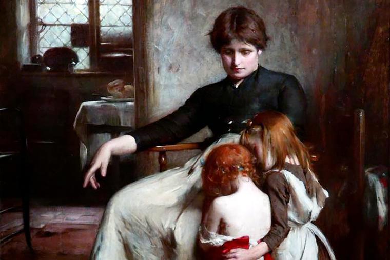 """Arthur Hacker, """"The Children's Prayer,"""" 1888"""