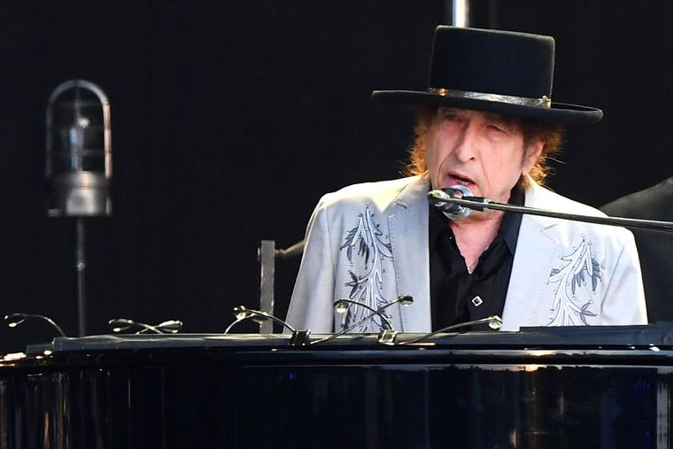 Bob Dylan performs at Hyde Park on July 12, 2019, in London, England.