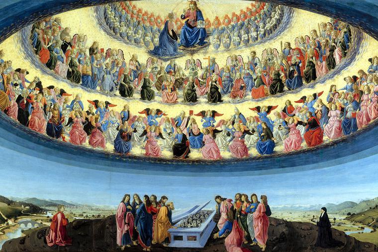 "Francesco Botticini, ""The Assumption of the Virgin,"" ca. 1475-76"