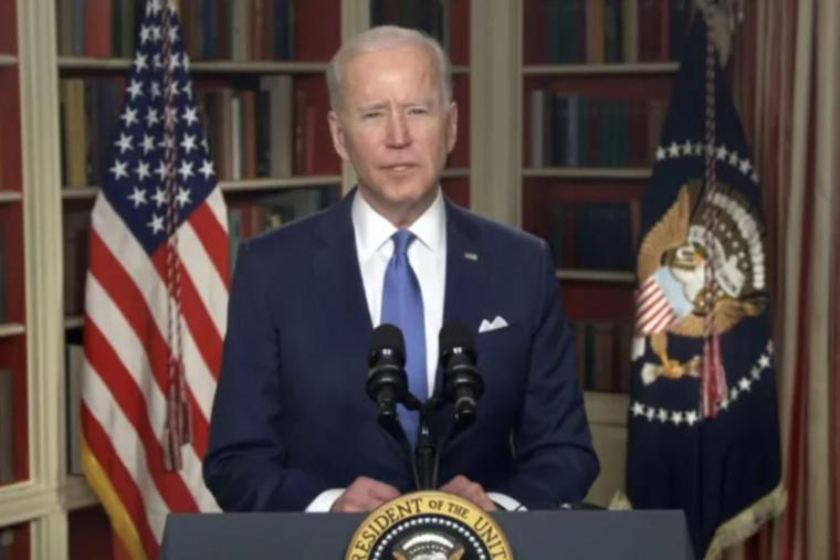 President Joe Biden addresses the 2021 National Prayer Breakfast.