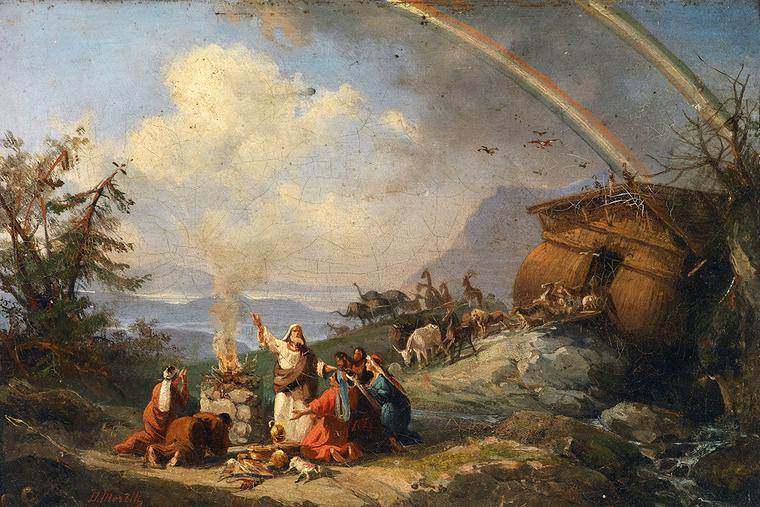 "Domenico Morelli, ""Noah's Ark,"" bef. 1901"