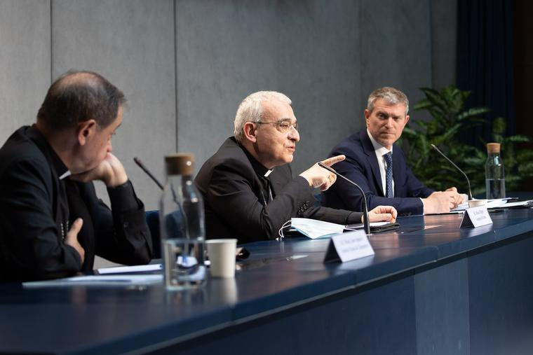 Press Conference about amendments to Book VI of the Code of Canon Law on June 1, 2021 at the Holy See Press, Rome.