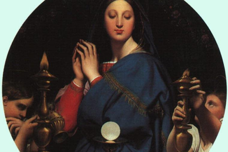 'The Virgin of the Host' by Jean Auguste Dominique Ingres, 1854