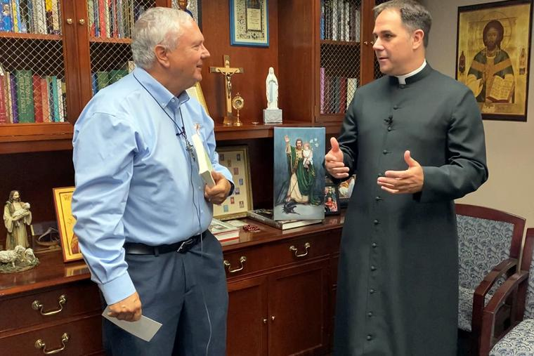 Deacon Steve Greco (left) and Father Donald Calloway