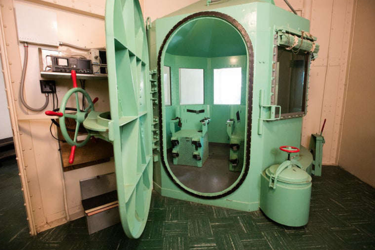 The gas chamber that was located in San Quentin State Prison in San Quentin, California.
