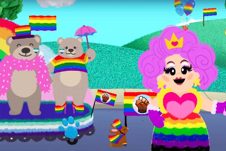 """Still image from """"The Blue's Clues Pride Parade Sing-Along Ft. Nina West"""""""