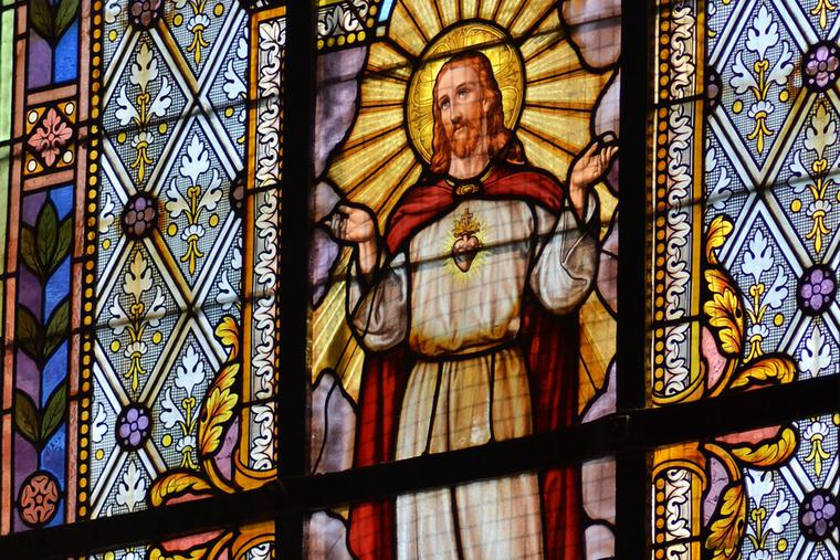 Sacred Heart in Stained Glass