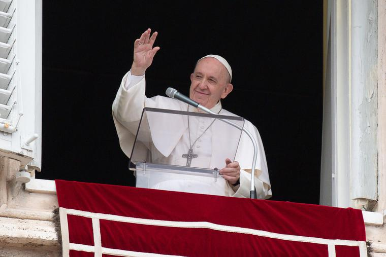 Pope Francis gives the Angelus address June 6, 2021.