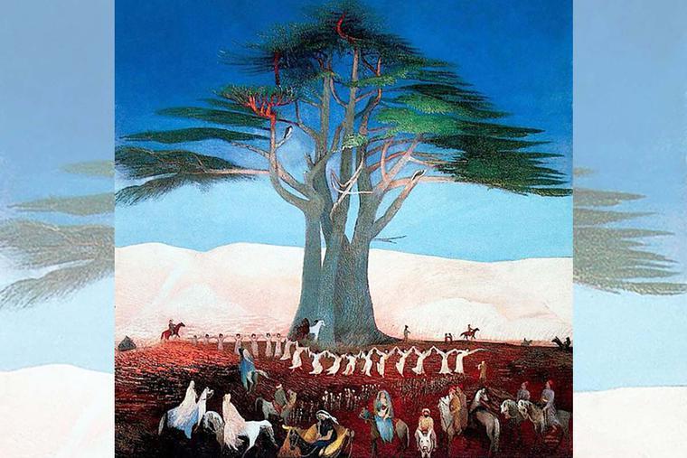 "Tivadar Csontváry Kosztka, ""Pilgrimage to the Cedars of Lebanon,"" 1907"