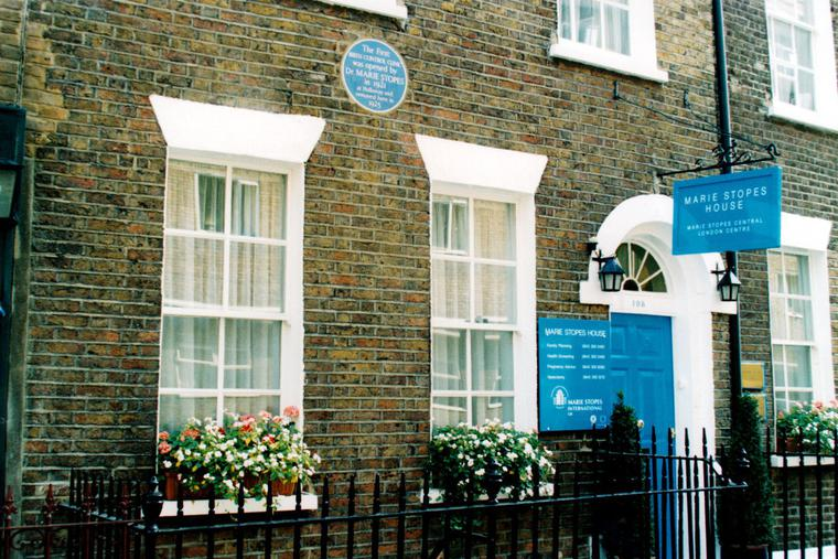 Marie Stopes moved her birth-control business in central London to 108 Whitfield St., a location that is now apparently closed.