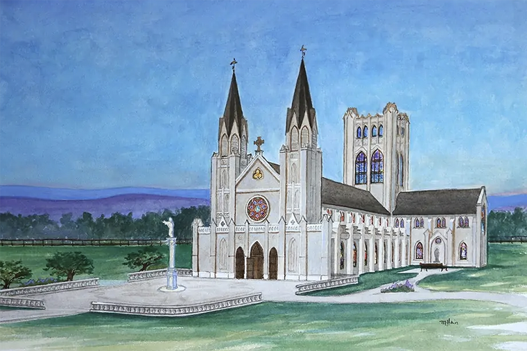 An artistic rendering of the new Christ the King Chapel in Front Royal, Virginia.