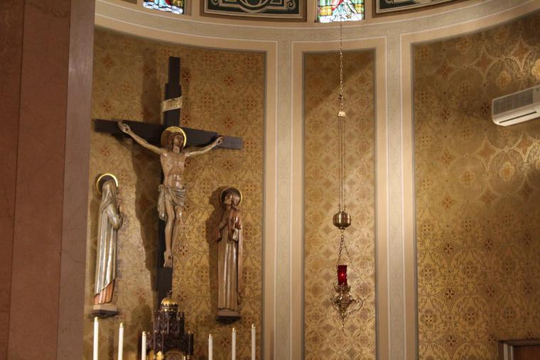 The sanctuary is seen at St. Joseph's Catholic Church in Niagara, New York.